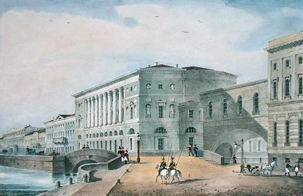 The Hermitage Theatre as Seen from the Vassily Island, 1822
