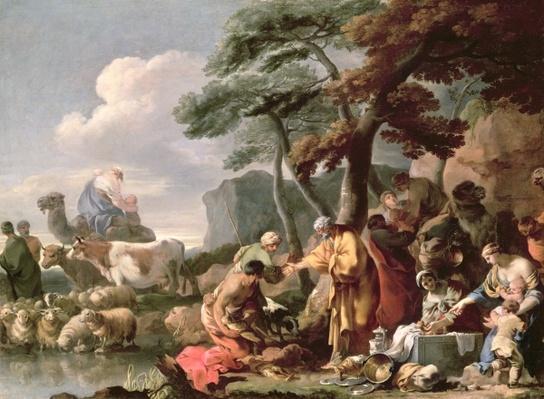 Jacob burying the strange gods under the oak by Shechem