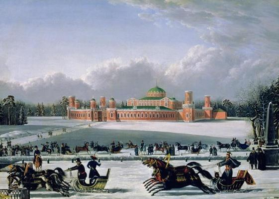 Sleigh Race at the Petrovsky Park in Moscow, 1848