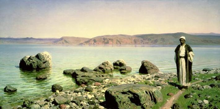 At the Sea of Galilee, 1888