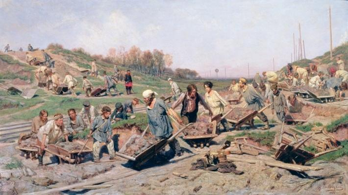 Repair Works on the Railway Line, 1874