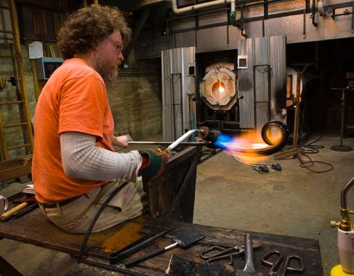 Glass Artist Heating Glass Sculpture | Earth's Resources