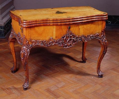 Carved card or games table, by David Roentgen, 1743-1807, German
