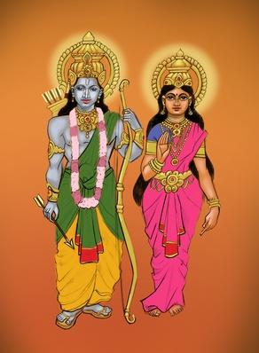 Lord Rama with goddess Sita | World Religions: Hinduism