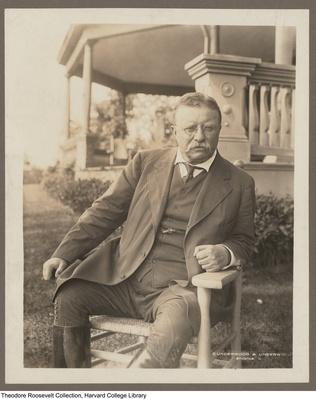 Theodore Roosevelt Sitting Outside Sagamore Hill | Ken Burns: The Roosevelts