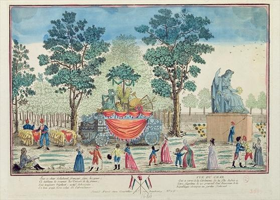 Procession of the Chariot of Agriculture after the 'Day of the Supreme Being', c.1794