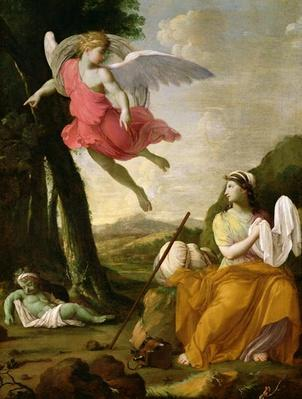 Hagar and Ishmael Rescued by the Angel, c.1648