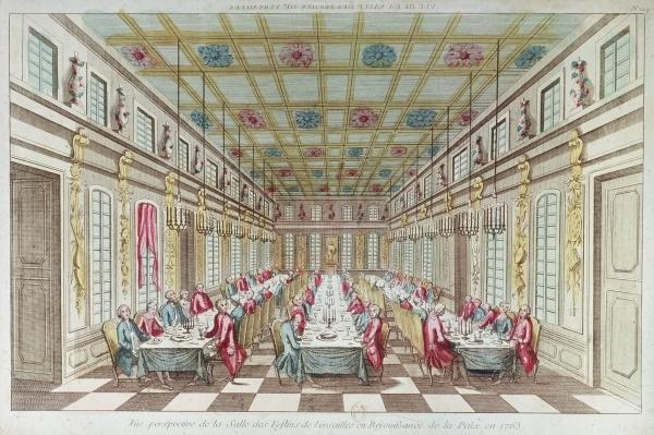 Feast given at the Chateau de Versailles in celebration of the Peace at the end of the Seven Years War, 1763