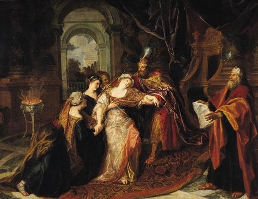 Esther before Ahasuerus, before 1697