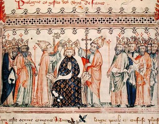 Ms.1469 f.1 The Consecration of Philippe III le Hardi