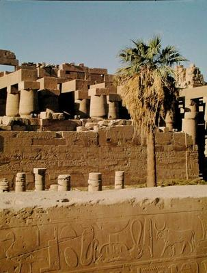 Wall of Ramses II and the Temple of Tuthmosis