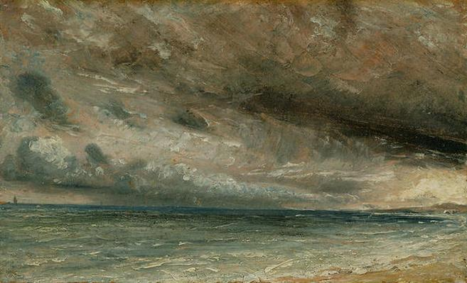 The Coast at Brighton - Stormy Evening, c.1828