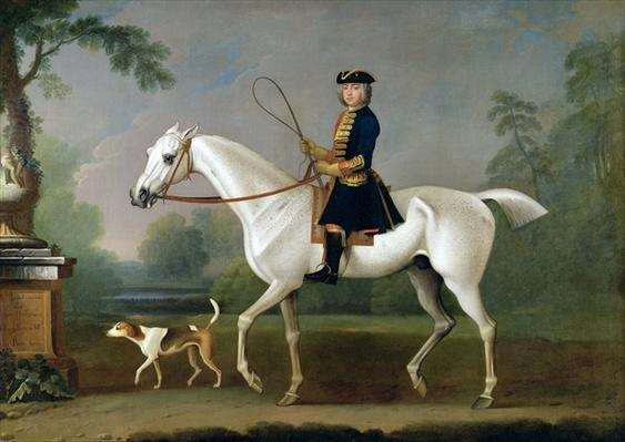 Sir Roger Burgoyne Riding 'Badger', 1740