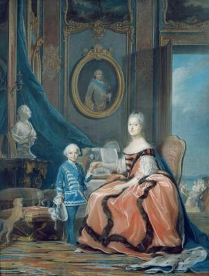 Portrait of Marie-Josephe de Saxe