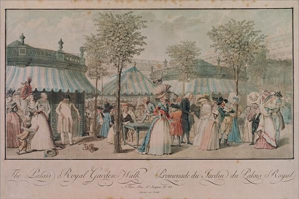 The Palais Royal Garden Walk, 1787