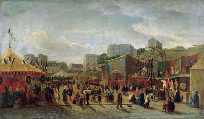 A Fair, Place Saint-Pierre, Montmartre in 1861
