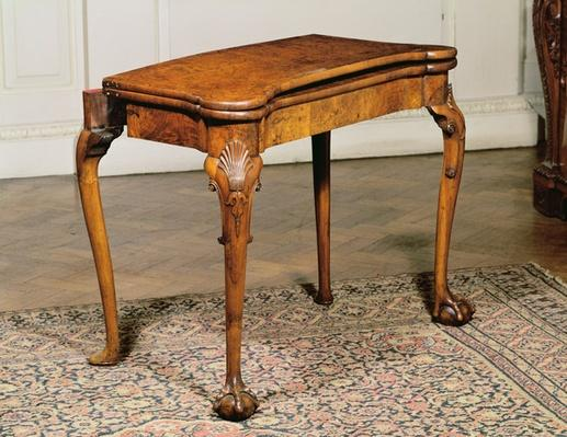 Card table, mahogany, c.1720