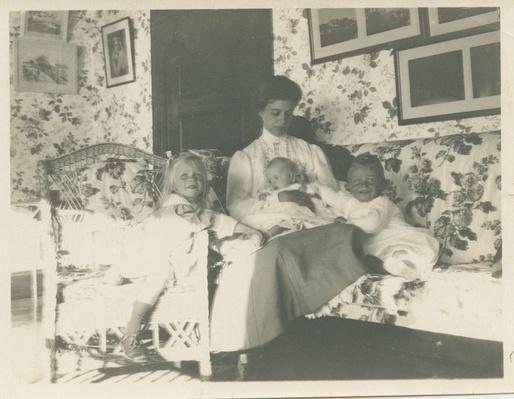 Eleanor Roosevelt with Her Children at Campobello, 1909 | Ken Burns: The Roosevelts