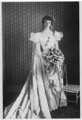 Eleanor Roosevelt In Her Wedding Dress 1905