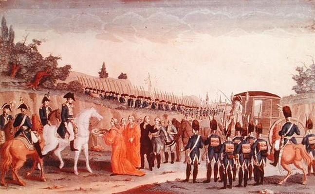 The Berlin magistrates hand over the keys of the city to Napoleon, 1807