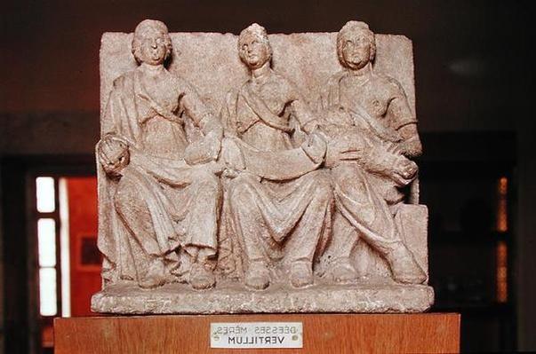 Votive sculpture of a triple mother deity