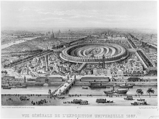General View of the Exposition Universelle, Paris in 1867
