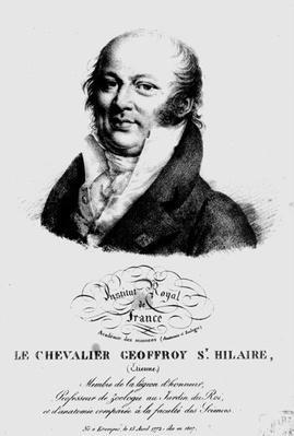 Portrait of Etienne Geoffroy Saint-Hilaire