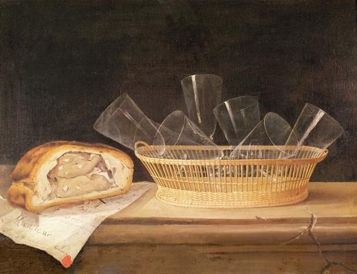 Basket of Glasses and a Meat Pie, before 1630