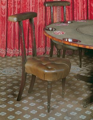 Games table and chair, late 18th century