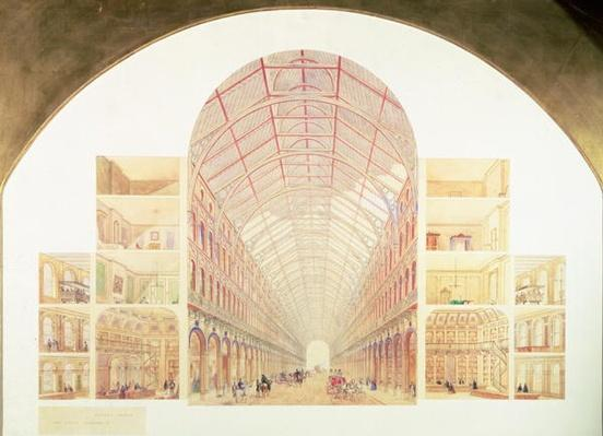 Section perspective of the proposed Great Victorian Way, c.1854