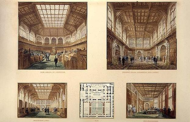 New House of Commons, Palace of Westminster, 1868