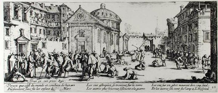 The Hospital, plate 15 from 'The Miseries and Misfortunes of War', engraved by Israel Henriet