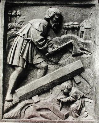 The Carpenter, detail from an altarpiece
