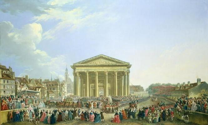 Ceremony of Laying the First Stone of the New Church of St. Genevieve in 1763, 1764