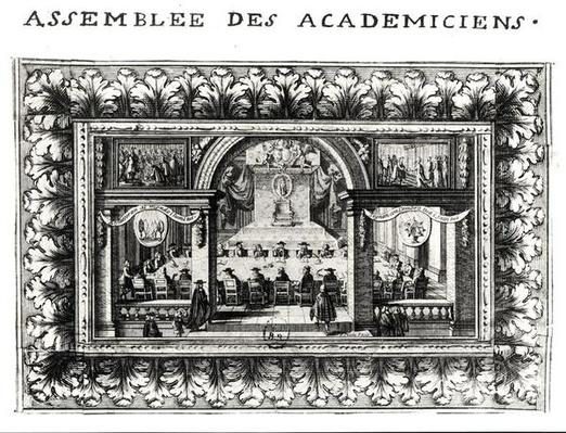 Meeting at the Academy Francaise in 1635