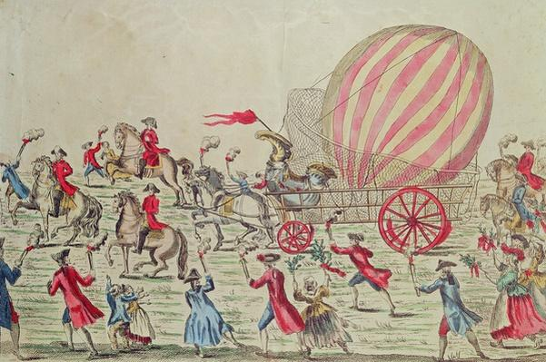The Return of the Hot-Air Balloon to Paris, after the Experiment at the Champ de Mars by the Montgolfier Brothers, 2nd December 1783