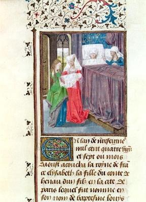 Ms 149 t.3 f.119 The Birth of Louis