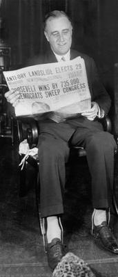 NY Governor Franklin Roosevelt Reading Election Returns, 1930 | Ken Burns: The Roosevelts