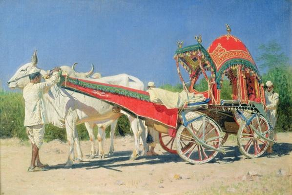 Vehicle of a Rich Man in Delhi, 1874-76