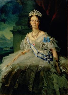 Portrait of Princess Tatiana Alexanrovna Yusupova, 1858
