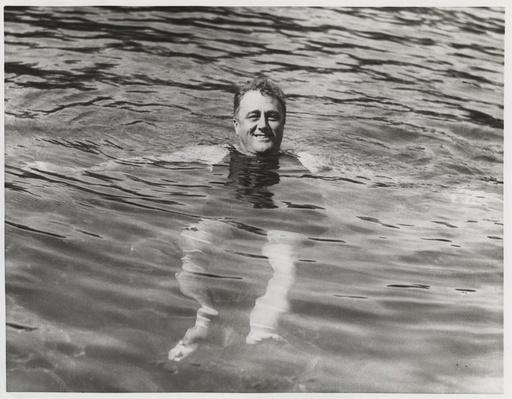Franklin Roosevelt in Pool at Warm Springs, Georgia, 1925 | Ken Burns: The Roosevelts