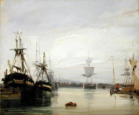 A French Harbour Scene