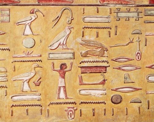Hieroglyphics, from the Tomb of Seti I, New Kingdom