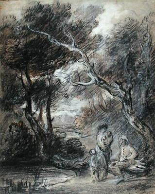 Wooded Landscape with Figures, c.1788