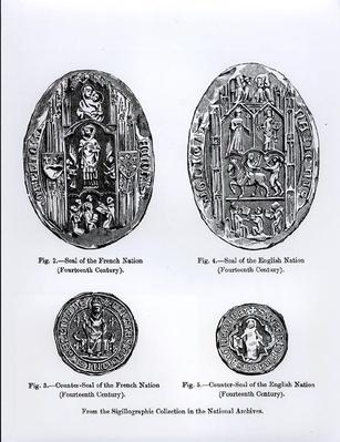 14th century Seals of the French and English Nations