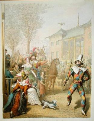 Mardi-Gras, Boulevard des Italiens, 1831