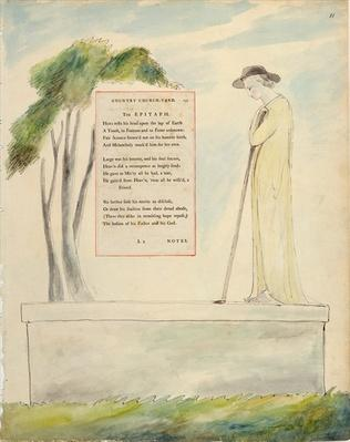 A Shepherd Reading the Epitaph, from Elegy Written in a Churchyard, from 'The Poems of Thomas Gray', published 1797-98