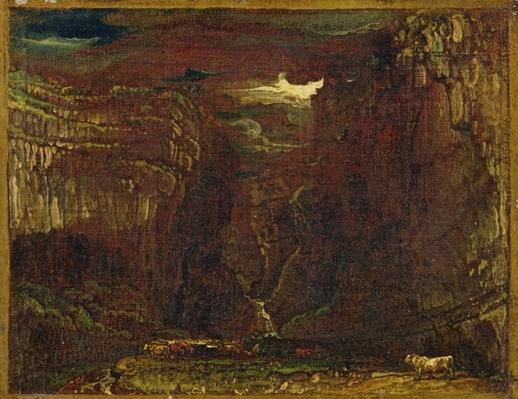 Sketch for 'Gordale Scar', c.1812