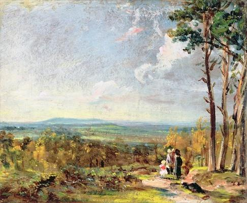 Hampstead Heath Looking Towards Harrow, 1821