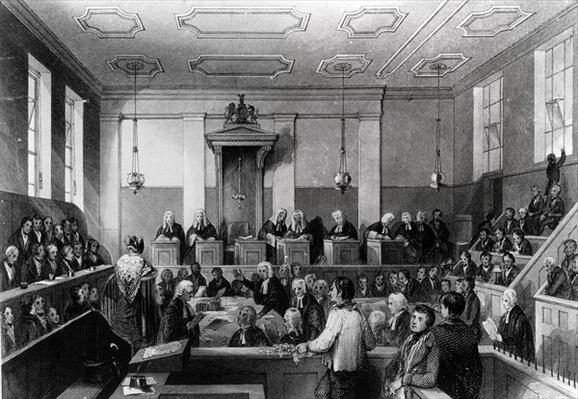 Central Criminal Court, The Old Bailey, engraved by H. Melville